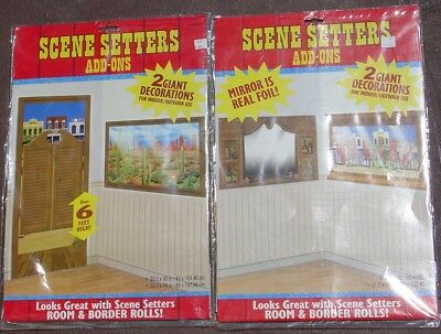 Wild West Saloon Scene Setters Wall Art Hanging Display Party Decoration Lot](Wild West Scene Setters)