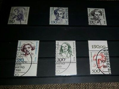 Berlin ab 1988 diverse Frauen mit Sonderstempel