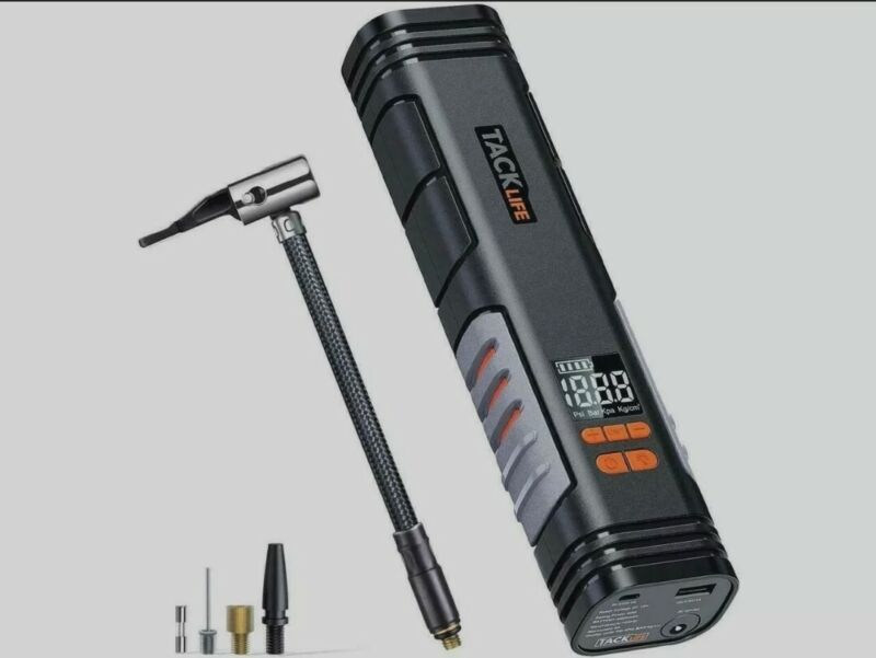 TACK LIFE X1 RECHARGEABLE CORDLESS HANDHELD PORTABLE TIRE INFLATOR COMPRESSOR