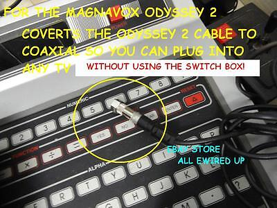 Type 1 Magnavox Odyssey 2 Television Tv Rf Video Cable Connector Switch Box
