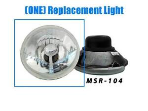 5-3-4-H4-GLASS-EURO-CRYSTAL-CLEAR-SEMI-SEALED-MOTORCYCLE-HEADLIGHT