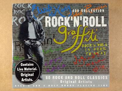 Rock N Roll 50 S (Rock N Roll Graffiti 4 CD SET Classic 50's Original Artists 80 Songs NEW-SEALED)