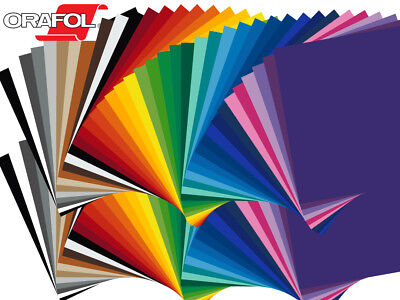 """10 Sheets - 12"""" X 12"""" ORACAL 651 Craft & Hobby Cutting Vinyl - *40 Color Choices"""