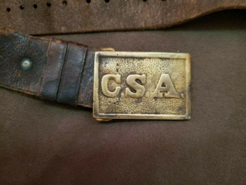 Confederate CSA sword belt buckle and sword belt
