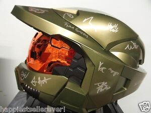 HALO-3-BUNGIE-11-Staff-Autographed-Signed-Helmet-New-Video-Game-XBOX-4-Destiny