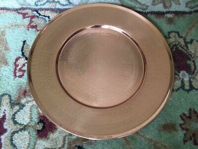 Square Plate Chargers (Williams Sonoma Copper Charger Plate 13