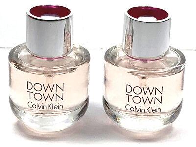 2x DOWN TOWN BY Calvin Klein Perfume for Women 0.5oz / 15ml Each EDP Spray NEW