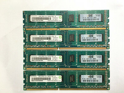 HP RAMAXEL 8GB (4x2GB) DDR3 1333MHz Desktop RAM Memory Module 2RX8 497157-B88