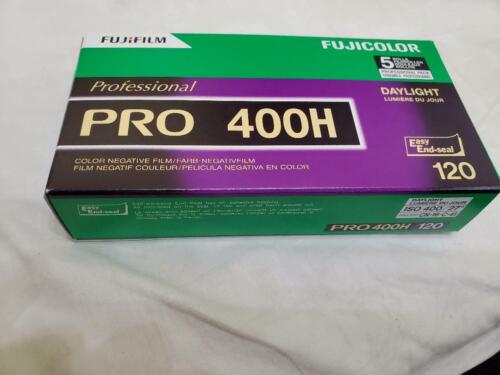 5 Rolls Fuji Color Pro 400H ISO 400 120 Color Negative Film, 10/2021 (NPH-120)