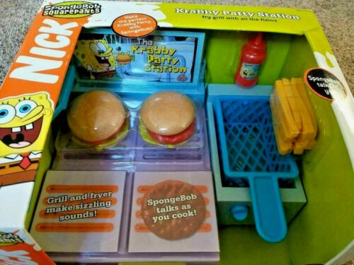 *RARE* SpongeBob Krabby Patty Station Krusty Krab Grill Fry Kitchen Toy * 2003