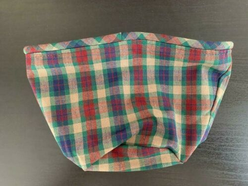 """Longaberger Finishing Touches Plaid Liner (measures 5 1/2"""" tall,"""