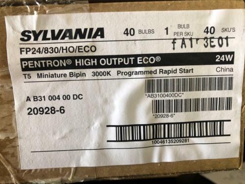 Box Of 40 Pieces SYLVANIA 20928 FP24/830/HO/ECO 2