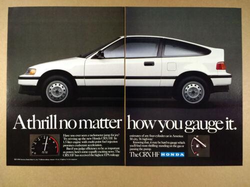 1989 Honda CRX HF vintage print Ad