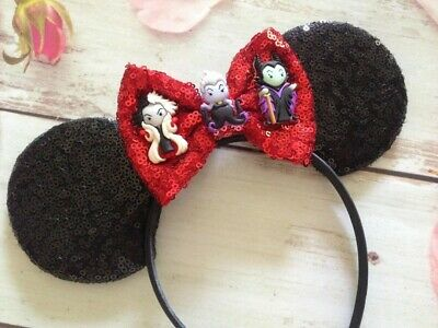 Villians Disney Minnie Mouse ears headband-Disneyland-Disney World-Halloween Ear - Halloween Mouse