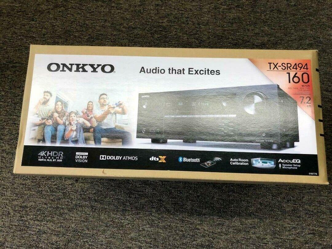 Onkyo TX-SR494 7.2-Channel A/V Receiver w/ 4 x HDMI,  4K UHD