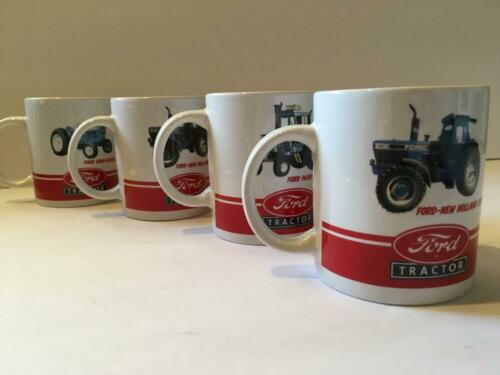 4, NEW, Tractor Mugs, Cups, (2) Ford-New Holland 8730, (1) Ford 5000, (1) 9400