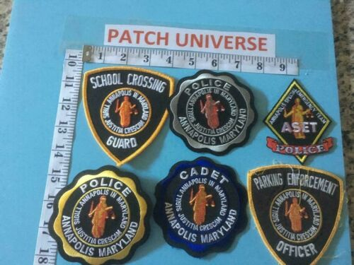 LOT OF 6 DIFF ANNAPOLIS  MD   SHOULDER PATCHES  G003