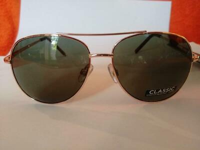 Foster Grant Colonel Gold Aviator Sunglasses 100% UVA/UVB Protection