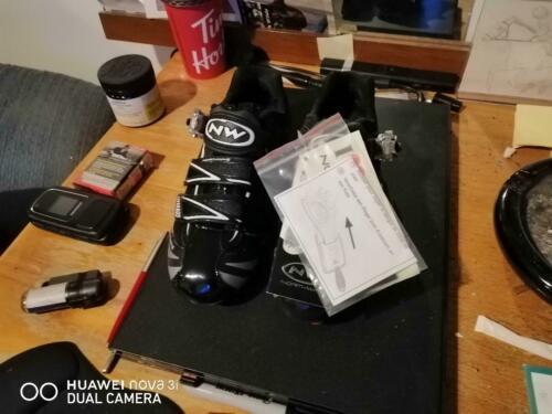 Northwave Evolution SBS Black/Silver Cycling Bike Shoes Brand New In Box!