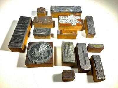Antique Letterpress Lot