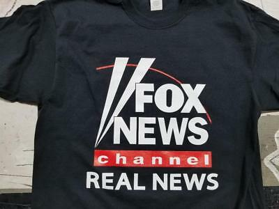 Fox News Channel Real News T Shirt Clothing Trump Conservative Fake Cnn Msnbc