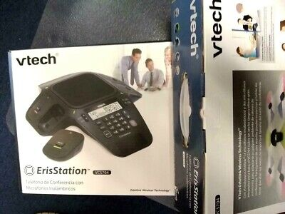New Vtech Vcs704 Erisstation Conference Phone With Four Wireless Mics Sealed Box