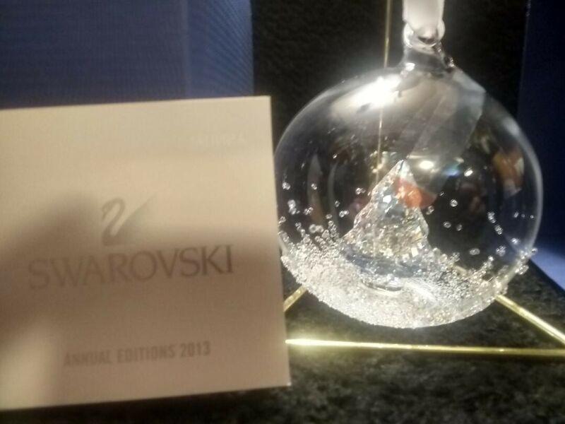 Swarovski 2013 Ball Ornament item # 5004498 w/COA