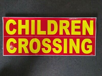 Children Crossing Safety Sign Decal 22 Concession Ice Cream Food Truck Sticker