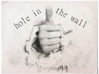 Hole in the wall drywall