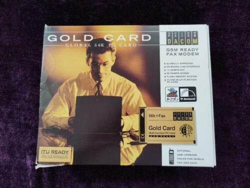 Psion Dacon PLC Gold Card Global 56K + Fax USA PCMCIA PC Card w/Cable & Software