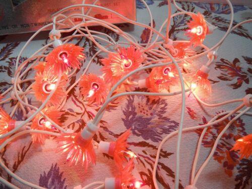 Vintage 1960s Christmas lights 20 LITE SUNBURST SET Japan WORKS Pink Kitsch