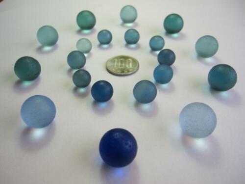 Natural Sea Glass Beach Glass 20 Balls Genuine Japan Surf-Tumbled No.43