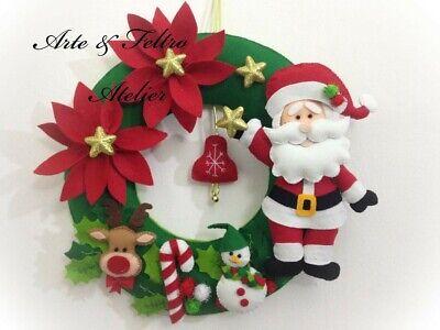 Ghirlanda natalizia /Fuoriporta natalizio/ Decorazione Natalizia /Fatto a mano