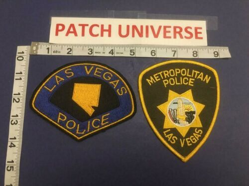 LOT OF 2 DIFF LAS VEGAS POLICE  SHOULDER PATCHES    B118