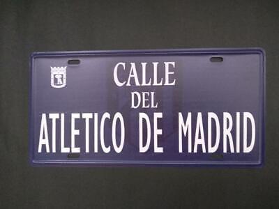 Placa calle Atlético de Madrid