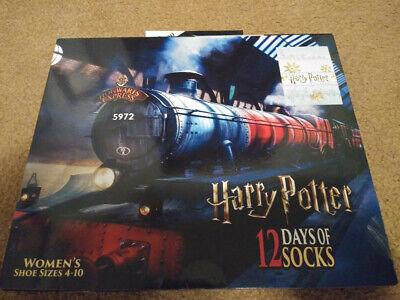 Harry Potter 12 Days of Socks Hogwarts Express Train Advent Calendar Women's