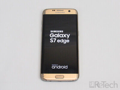 Samsung Galaxy S7 Edge 32GB Gold Android 6.0-8.0 Verizon TESTED SEE PHOTOS