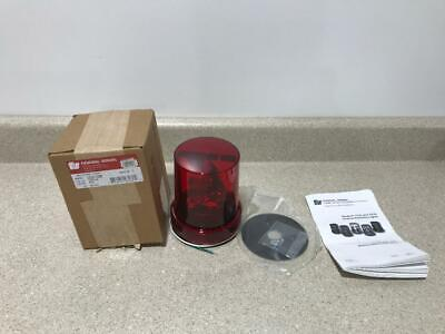 Federal Signal Rotating Light Red 121s-120r New