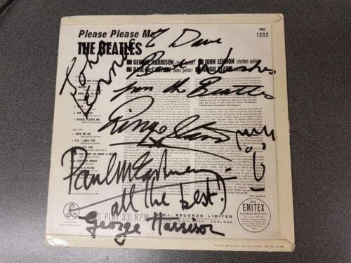 The Beatles Autographed Please Please Me 1963 Signed 12 Days After Release!!!!