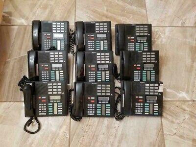 9 Norstar Nortel Meridian System M7310 Phone Black Nt8b20af-03 Office Telephone
