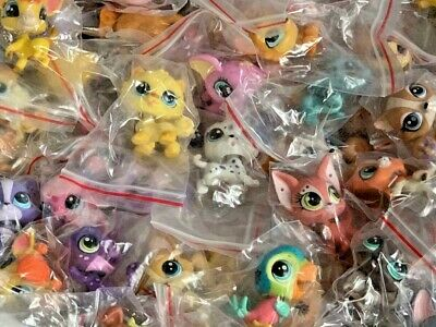 Littlest Pet Shop LPS 10 Piece Mixed Lot  Surprise Random Pet Figures Authentic