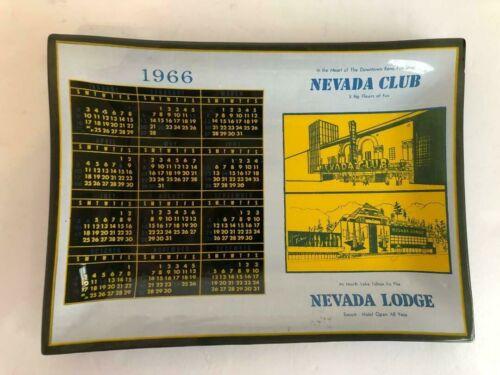 Nevada Club Reno/Nevada Lodge Lake Tahoe 1966 Calendar Ashtray