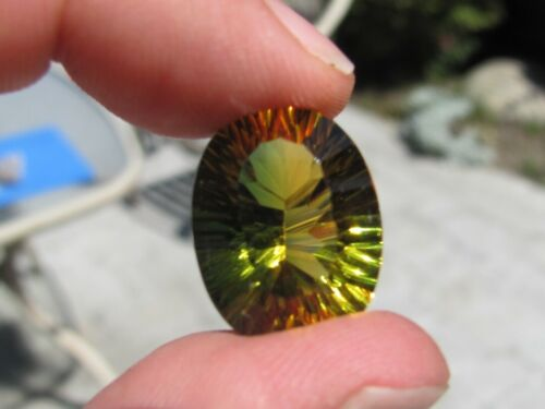 Fantastic Faceted  GREEN/GOLDEN AMETRINE ./ AFRICA 18.5 ct