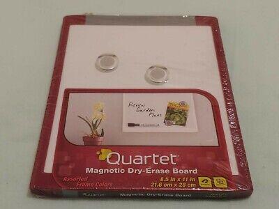 Quartet Magnetic Dry-erase Board 8.5 X 11 In Black Silver School Office Home
