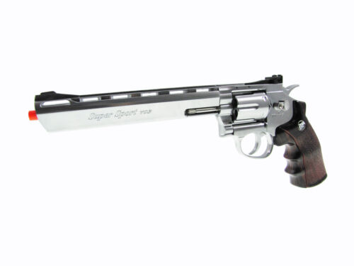 Wingun 703S Full Metal Double Action Airsoft Silver Co2 Revolver Pistol