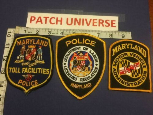 LOT OF 3 DIFF  MARYLAND GOVERMENT  SHOULDER PATCHES  E009