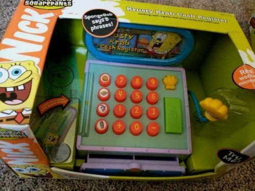 *RARE* SpongeBob Krusty Krab Cash Register Toy Play Money Microphone * 2003