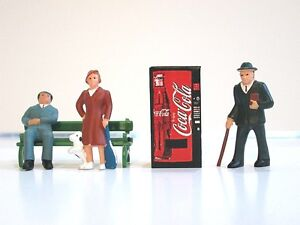 O Scale Vending Machine 1:48 Red Coca Cola Coke Soda Pop Machines DIORAMA