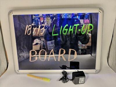 Led Light Up Writing Board Illuminated Acdc Neon Sign Message Menu Special Us