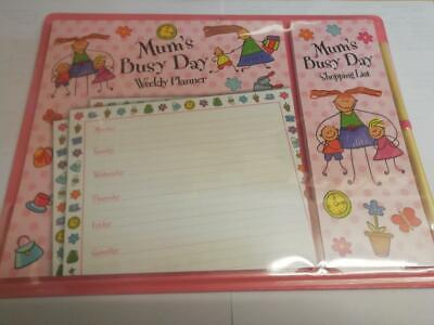 MUMS BUSY MAGNETIC PLANNER + SHOPPING LIST. GREAT MOTHERS DAY OR XMAS GIFT IDEA ()